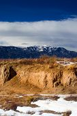 picture of colorado high country  - Winter among the southern Colorado high desert as the snowy Rockies stand in the background - JPG