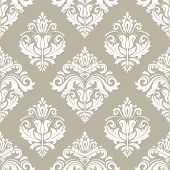 Classic Seamless Vector Pattern. Damask Orient Ornament. Classic Vintage Light Background. Orient Or poster