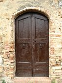 stock photo of assis  - Tuscan door taken in Assis Italy - JPG
