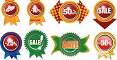 Eight Brand New Icons With Sale And Retail Information poster