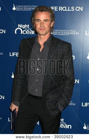 LOS ANGELES - NOV 11:  Sam Trammell arrives at the Life Rolls On Foundation's 9th Annual Night By The Ocean at The Ritz-Carlton on November 11, 2012 in Marina del Rey, CA