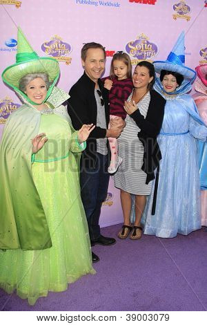 BURBANK - NOV 10: Chad Lowe, wife Kim, daughter Mabel at the premiere of Disney Channels' 'Sofia The First: Once Upon a Princess' at Walt Disney Studios on November 10, 2012 in Burbank, California