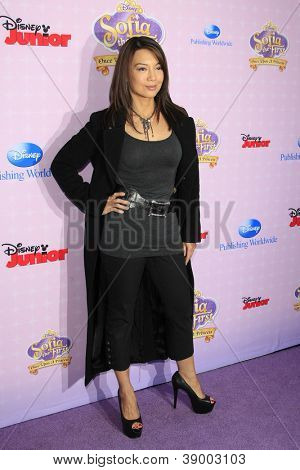 BURBANK - NOV 10: Ming-Na at the premiere of Disney Channels' 'Sofia The First: Once Upon a Princess' at Walt Disney Studios on November 10, 2012 in Burbank, California