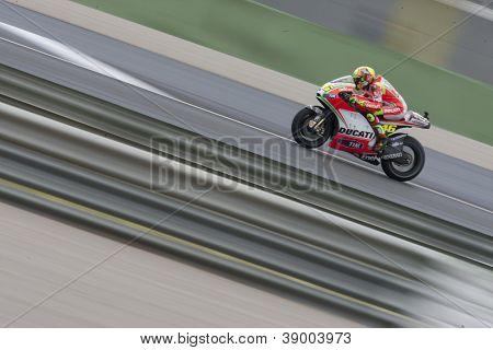 CHESTE - NOVEMBER 11: during MOTOGP Valenctino Rossi Race of the Comunitat Valenciana, on November 11, 2012, in Ricardo Tormo Circuit of Cheste, Valencia, Spain