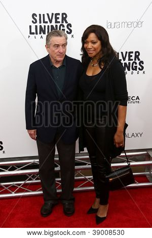 NEW YORK-NOV 12: Actor Robert DeNiro and Grace Hightower attend the premiere of