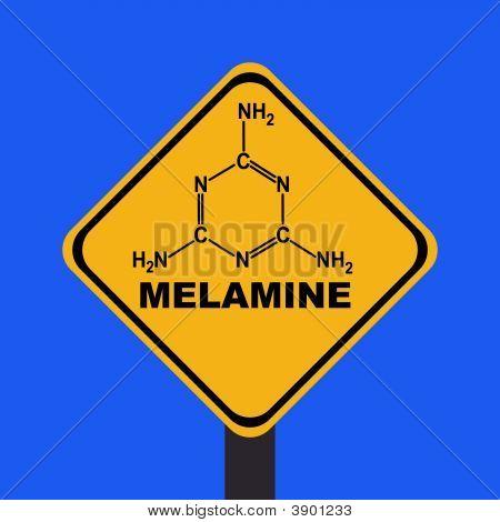 Melamine Warning Sign