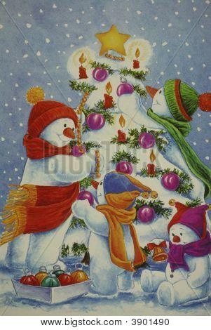 Snowman Decorating