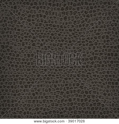 Seamless vector black leather texture background.