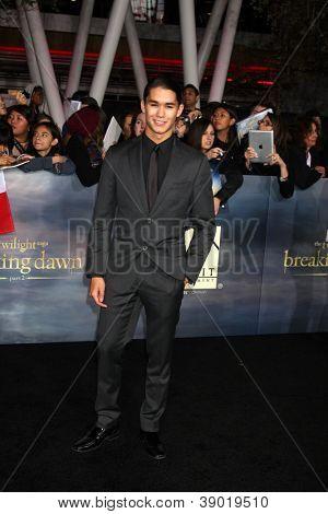 LOS ANGELES - NOV 12:  Booboo Stewart arrive to the 'The Twilight Saga: Breaking Dawn - Part 2