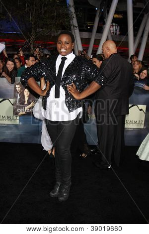 LOS ANGELES - NOV 12:  Alex Newell arrive to the 'The Twilight Saga: Breaking Dawn - Part 2