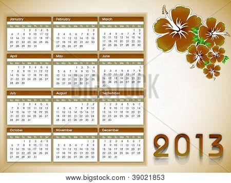 calendário do ano de 2013. EPS 10.