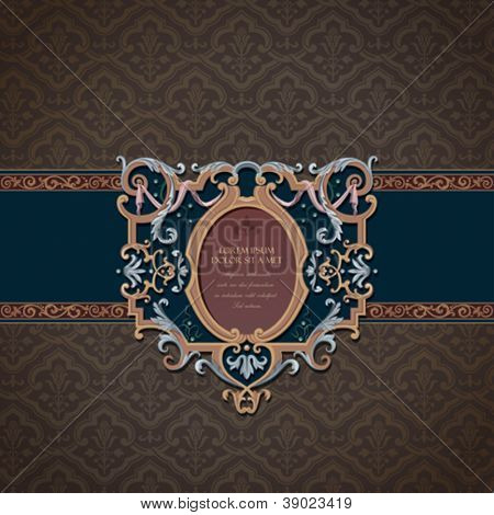 Vintage gift Card Design. Floral pattern wallpaper.  Retro background. Copyspace. Vector.