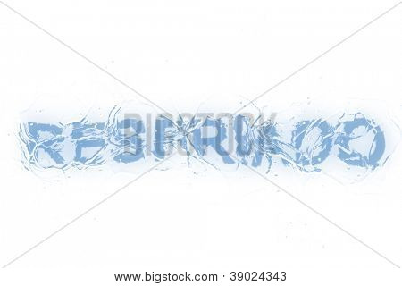 A frozen word/phrase from a serie isolated on a white background. 'Resfriado' in Portuguese-Br language means 'Cold'.