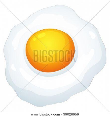 illustration of an egg omlet on a white background