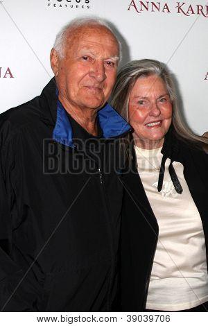 LOS ANGELES - NOV 14:  Robert Loggia, Audrey Loggia arrives to the 'Anna Karenina' Los Angeles Premiere at ArcLight Hollywood on November 14, 2012 in Los Angeles, CA