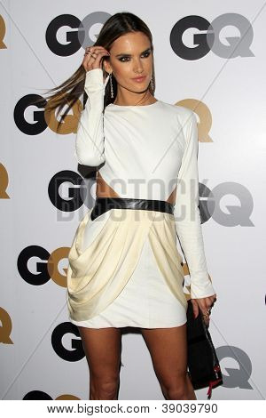 LOS ANGELES - NOV 13:  Alessandra Ambrosio arrives to the GQ Men Of The Year Party at Chateau Marmont on November 13, 2012 in Los Angeles, CA