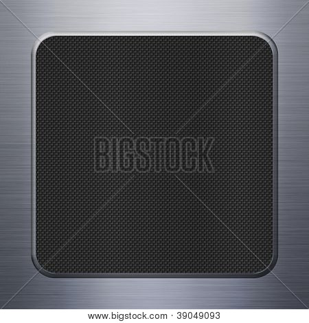 Carbon fibre texture and aluminum metal plate background
