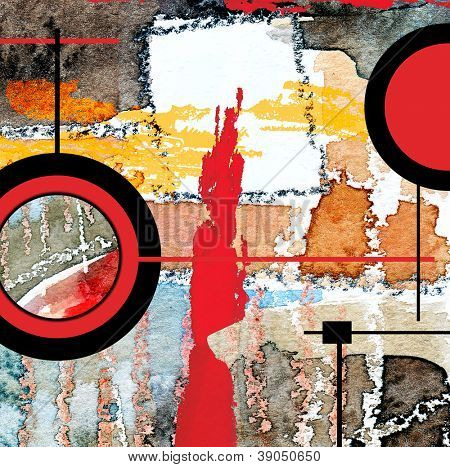 Abstract Paper Collage Abstract Art Collage Mixed