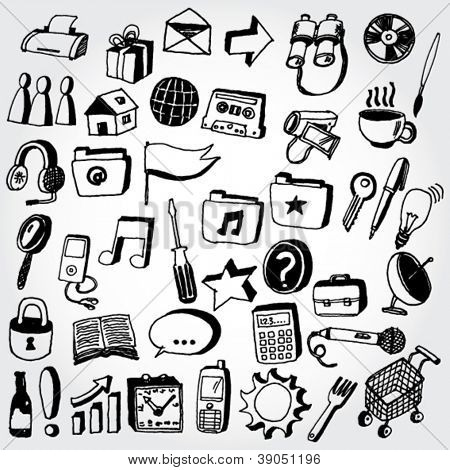Collection of Doodled Icons