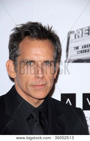 LOS ANGELES - NOV 15:  Ben Stiller arrives for the 26th American Cinematheque Award Honoring Ben Stiller at Beverly Hilton Hotel on November 15, 2012 in Beverly Hills, CA