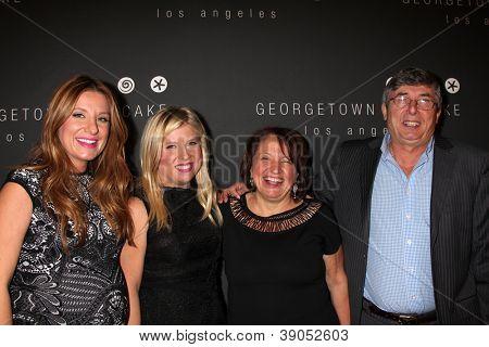 LOS ANGELES - NOV 15:  Sophie Kallinis LaMontagne, Katherine Kallinis Berman, their parents arrives for the Georgetown Cupcakes  Los Angeles on November 15, 2012 in Los Angeles, CA