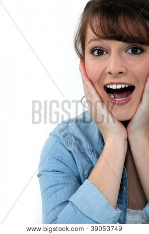 Overjoyed woman