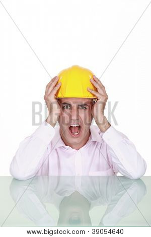 Engineer screaming in anger