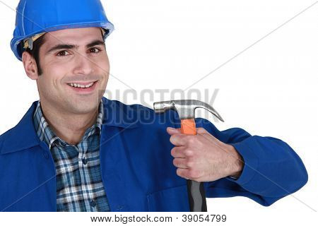 Not sure it's the right way to hold a hammer