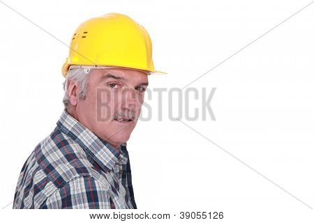 Portrait of a construction foreman