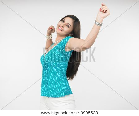 Woman Stretching Her Self