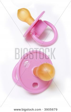 Babies Dummy Or Pacifier Isolated On A White Studio Background