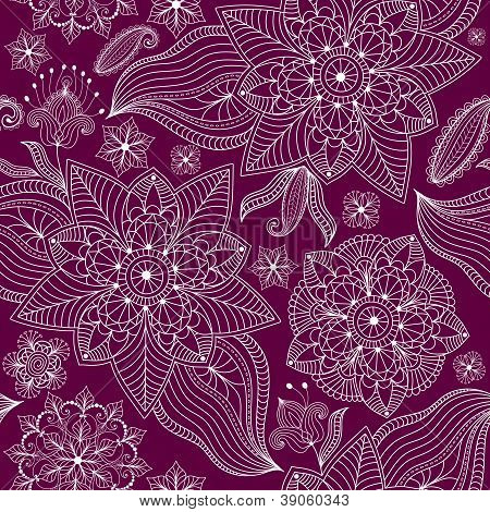 Repeating Bicolor Lacy Floral Pattern