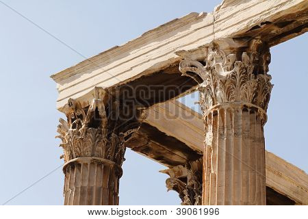 Temple Of Zeus Olympian In Athens