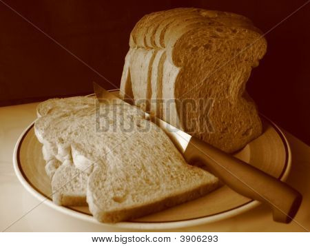 Wheat Bread In Sepia