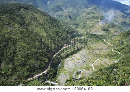 Mountain Road Banaue Luzon Philippines