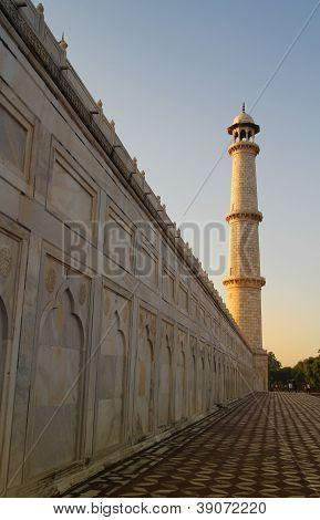 Minaret At Taj Mahal
