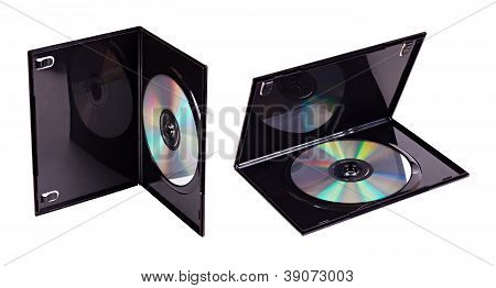 The Dvd Case With A Disk Inserted Isolated