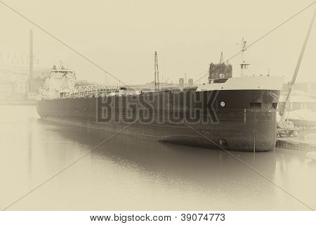 Sepia Freighter