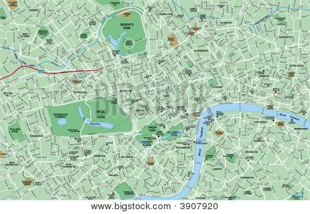 London, Uk Area Map