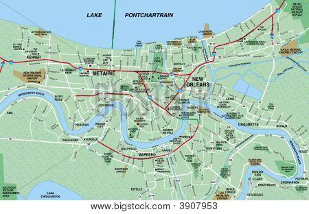 New Orleans Metropolitan Area Map