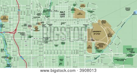 Downtown Salt Lake Map