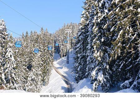 Ski lift in Bansko
