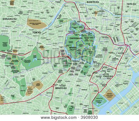 Downtown Tokyo Map