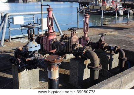old dockside fueling point