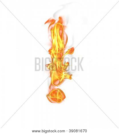 Burning fire symbol - exclamation mark