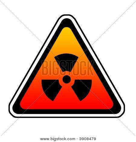 Strahlung Warnung Zeichen