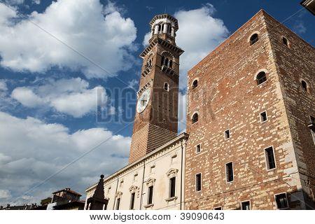 Lamberti Tower In Verona