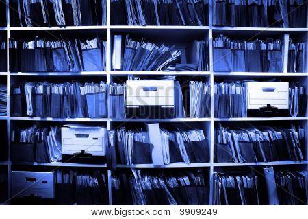 Arquivos na prateleira