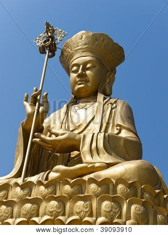 Estátua dourada do Bodhisattva