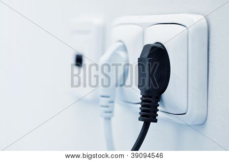 Electric Plug In A Socket